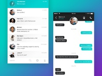 Dribbble chat ui mobile 02