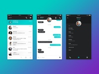 Dribbble chat ui mobile 01