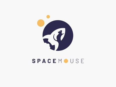 #Typehue Brandom Week 1: SpaceMouse negative space branding yellow purple vector typehue space rocket mouse logo