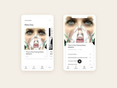 Music Player Animation in Principle music app music player figma principle animation app design ui animations music app