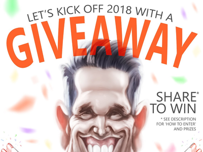 Illustrated giveaway promo