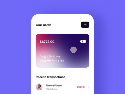 3D Card Flip Interaction V2 interaction animation swipe ios finance 3d flip cards mobile dailyui minimal ux ui app concept