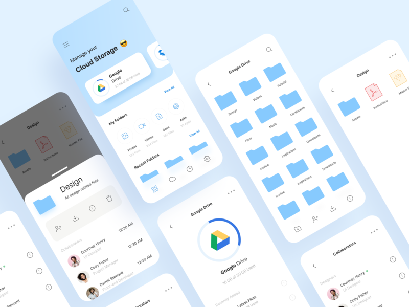 Cloud Storage And Collaboration minimalistic cloud computing ui dailyui uidesing individual online ux uiux uidesign clean minimal ios app file upload file manager storage team collaboration cloud