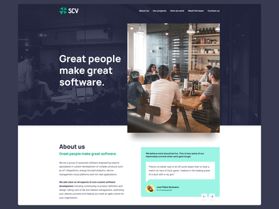 SCVSoft website redesign header hero redesign company argentina design web ui