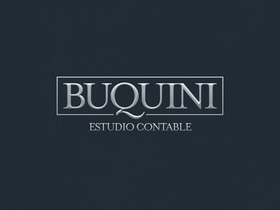 BUQUINI · Estudio contable logo mendoza argentina contable estudio contador branding accounting