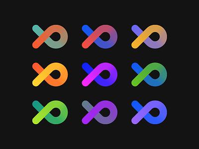 pb - unused icon color variation buenos aires xd word logo argentina monogram pb