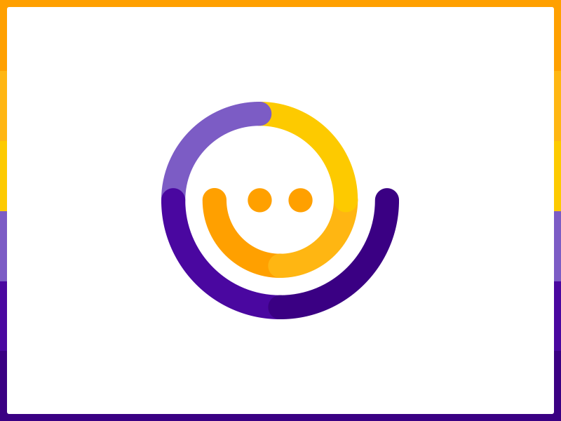 Smile icon concept argentina buenos aires espiral spiral salud health orange yellow purple sonrisa smile icon