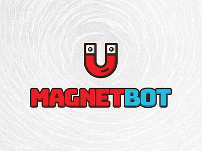 Magnetbot logo messenger argentina magnetic buenos aires logo icon branding bot magnet