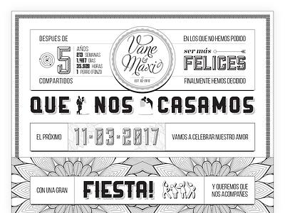 Wedding invitation (for a friend) 👰 💍 marriage party white black invitation wedding