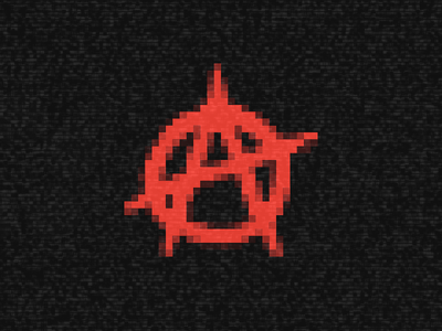 Anarchy Games · brand icon rojo company argentina red static pixelated videogames games anarchy