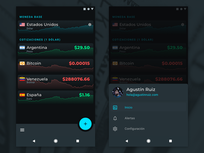 Playing with Material Design 2 concepts google blue black gray exchange argentina crypto money 9 pie android 2 design material