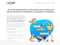 Fundación UQBAR website design web blue branding programming argentina ong uqbar website