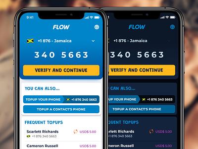 Topup Flow flutter app materialdesign argentina phone caribbean app ios light dark material