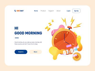 One day app website ux illustrator icon web illustration ui design