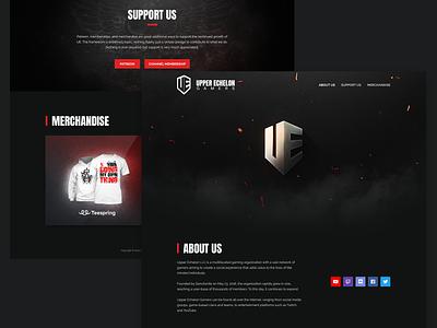 Upper Echelon Gamers Website Revamp modern branding web design web ux ui georgev design