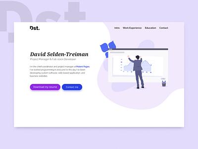 Dst. Showcase website website purple flat minimal illustration web ux ui web design portfolio georgev branding design