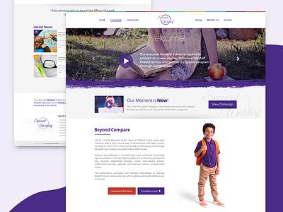 Seacoast Waldorf Concept Page minimal concept branding purple typography design web design web ux ui georgev