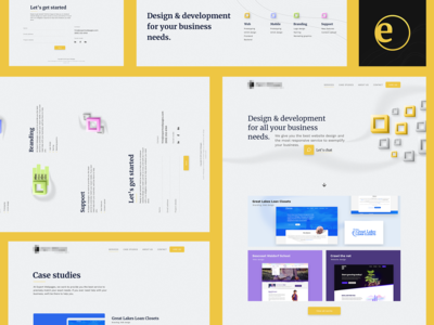 Design exploration for a creative agency