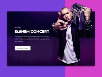 Eminem Concert Concept UI