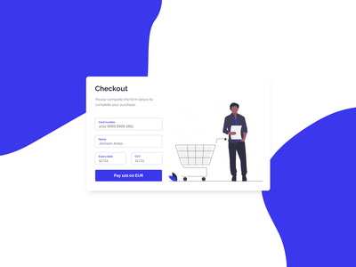 Checkout Card Concept UI concept dailyui clean vector blue illustration minimal web design web ux ui georgev design