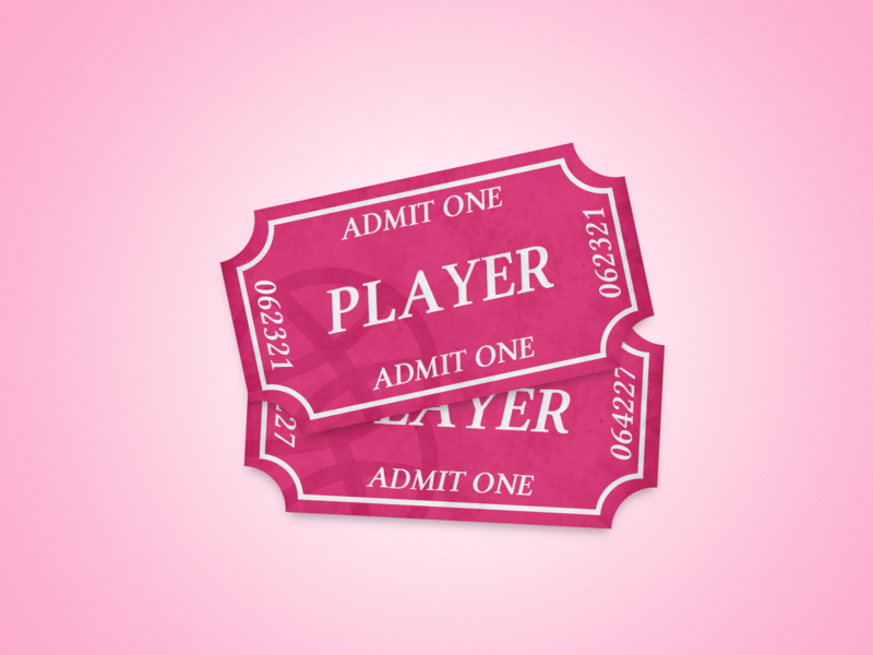 2x Dribbble Invites tickets pink dribbble invites dribbble invite invites giveaway invite design illustration georgev