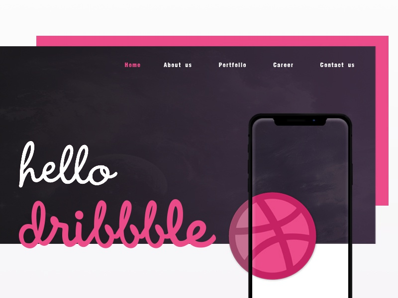 Hello Dribbble design ux ui dribbble hello