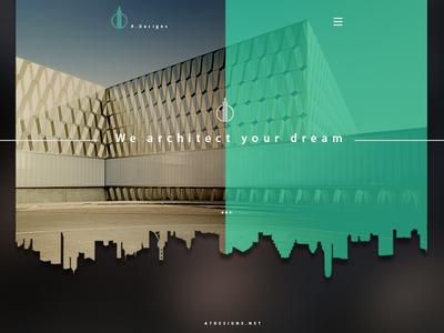 concept architecture homepage Design