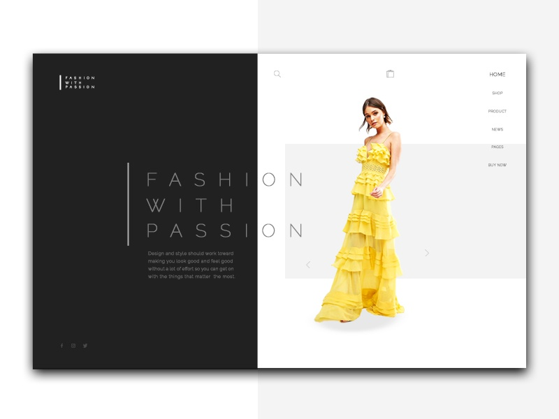Fashion with Passion new modern style website web ux concept page landing layout design fashion