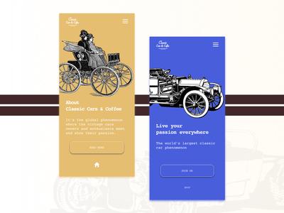 Vintage cars & coffee app