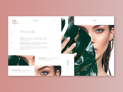 M&CO beauty agency website