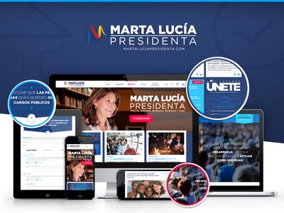 Marta Lucía Presidenta politic politica candidatura elecciones vote colombia ui presidential campaign responsive design political campaign