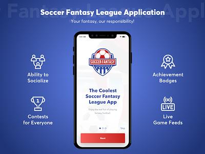Soccer Fantasy League Application vector mobile app app ux ui design fantasy sports app developers fantasy football app development sports fantasy app development