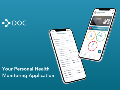 Personal Heath Monitoring Application healthcare app health app health monitoring healthcare branding icon mobile app app ux ui design