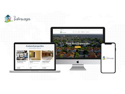 Real Estate Website Agency web design real estate agency real estate web illustration app ux ui design