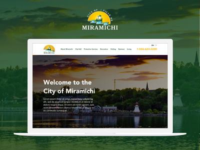 Website Proposal for the City Council of Miramichi web design website design web web app app ux ui design