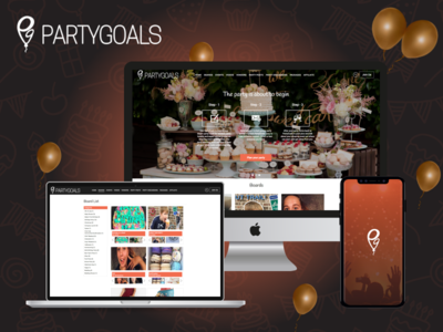A Party based Web and Mobile Marketplace web app ios app party app marketplace ux ui design