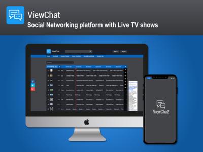 A Social Networking Platform with live TV shows tv shows social networking live tv web and mobile app mobile app web app app design marketplace ux ui