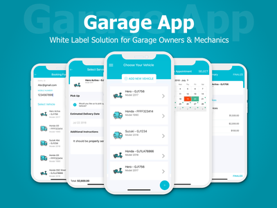 A White Label Solution for Garage Owners & Mechanics white label solution white label garage app mobile app app ux ui design