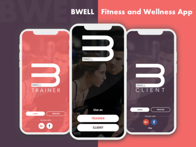 Fitness and Wellness Application workout app personal trainer booking wellness app healthcare app healthcare booking app fitness app fitness vector mobile app app ux ui design