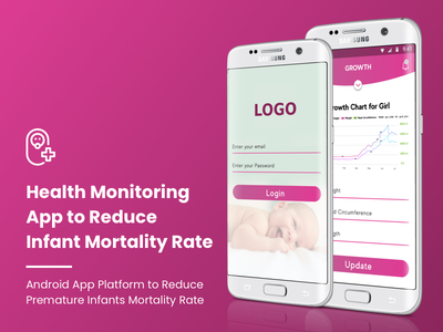 Health Monitoring App to Reduce Infant Mortality Rate infant monitoring premature infants app health monitoring app health app mobile app app ux ui design