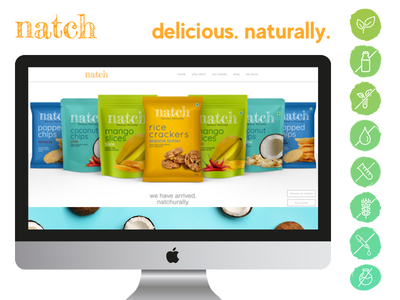 A natural snack company delicious snacks natural ingredients snacks web app ux ui design