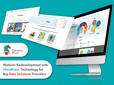 WordPress Website for Big Data Solutions Providers website redevelopment global analytics company wordpress website wordpress solution providers big data solutions design web app ux ui