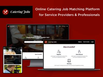 Online Catering Job Matching Platform catering job match catering job job matching job portal online job portal web app design ux ui