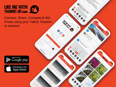 Connect, Share, Compete & Win Prizes using your Talent! video sharing upload video video web illustration branding logo icon web app mobile app app ux ui design