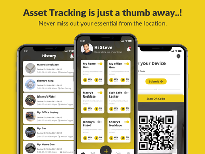Asset Tracker Application asset tracking typography mobile application flat vector illustration icon marketplace mobile app app ux ui design