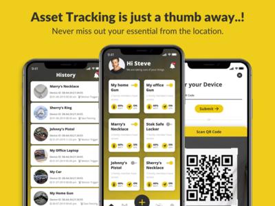 Asset Tracker Application asset tracking typography mobile application flat vector illustration icon marketplace mobile app app ux ui design
