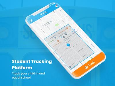 Student Tracking Platform ui design schoolbus tracking student tracking typography vector illustration mobile app app ux ui design