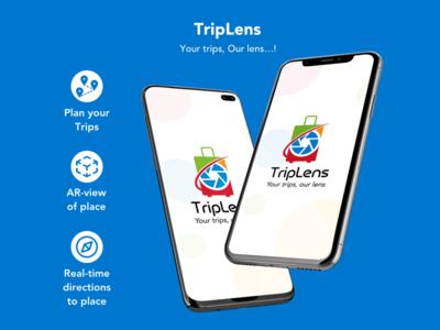 TripLens travel guide trip virtual reality augmentedreality vector logo illustration mobile app app ux ui design