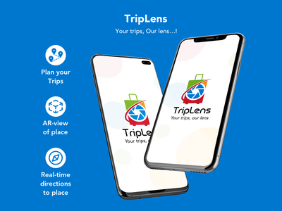 TripLens travel guide trip virtual reality augmentedreality vector logo illustration mobile app app ux ui design