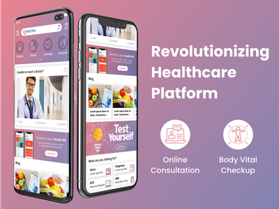 Revolutionizing Healthcare Platform icon web app vector logo illustration mobile app app ux ui design